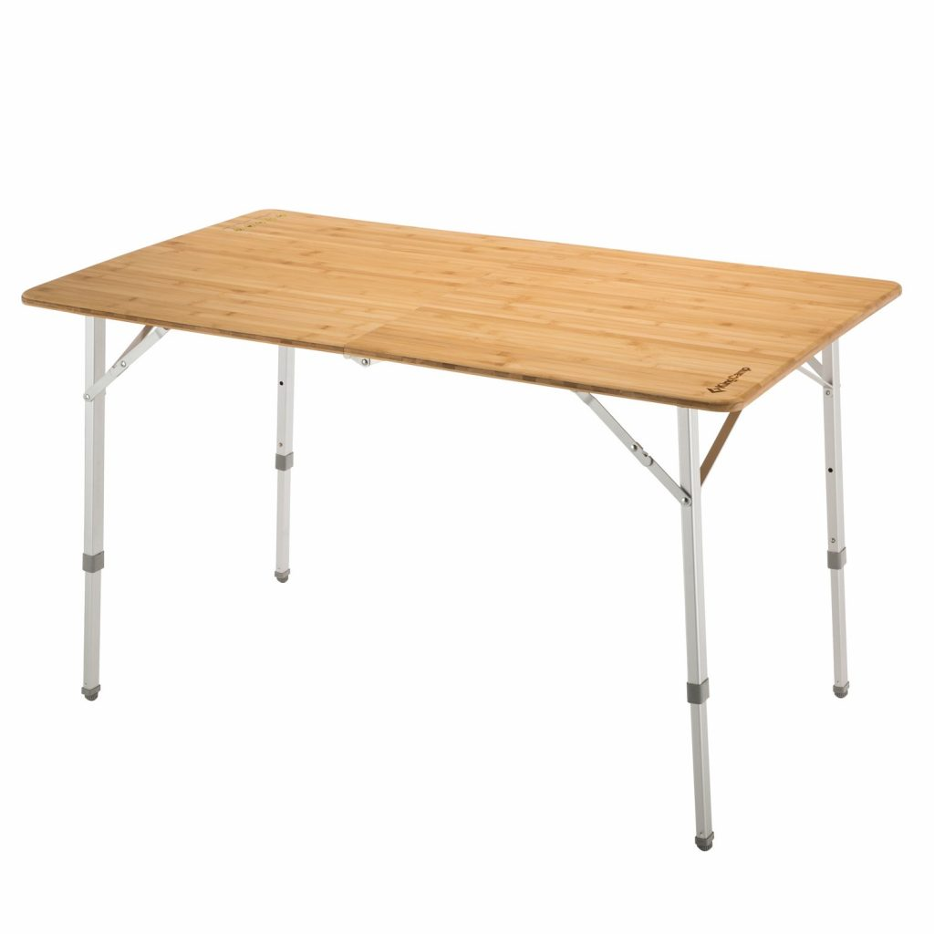 4- 6 person bamboo heavy duty folding table from KingCamp