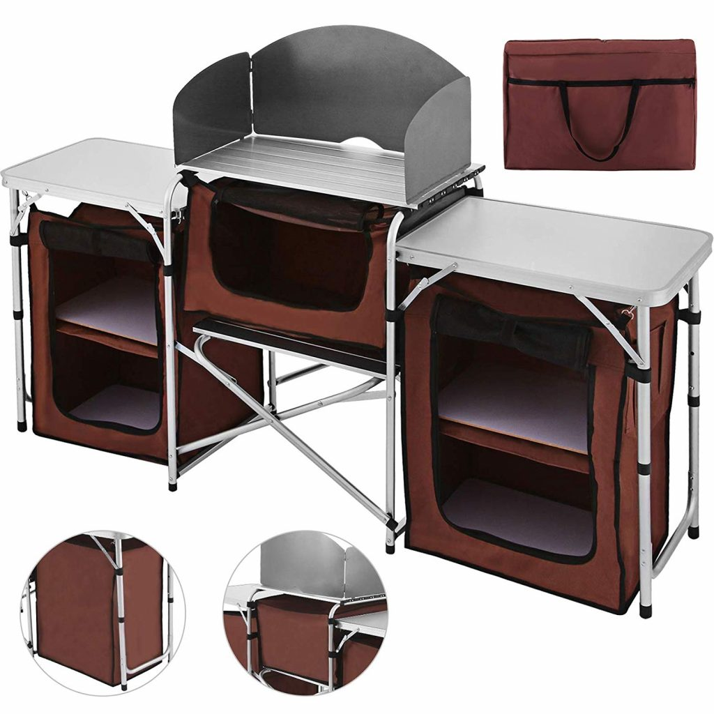 Multifunctional Windscreen Easy-to-Clean Portable Camping Kitchen from Happybuy