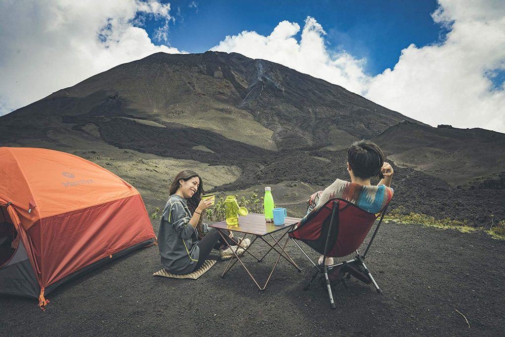 Portable Camping Side Tables with Aluminum Table Top from Trekology