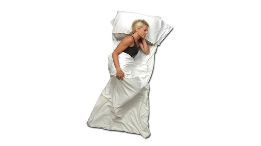 Travel Sheet and Sleeping Bag Liner Use as a Lightweight Sleep Sack